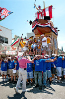 Raising of the Giglio - Giglio Festival on Havemeyer Street, during the day, July 2011